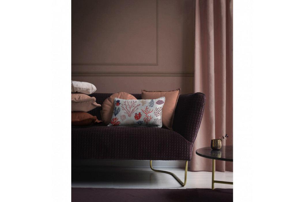Barevný dekorativní polštář Velvet Atelier Plankton, 50 x 35 cm