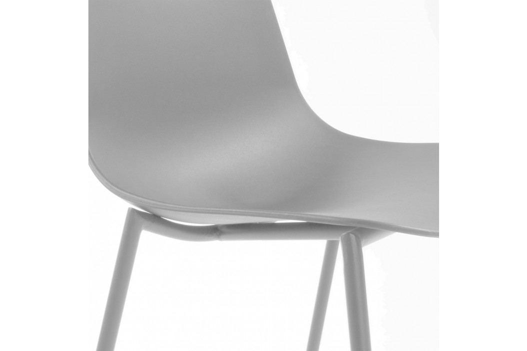 Sada 4 šedých jídelních židlí La Forma Wassu obrázek inspirace
