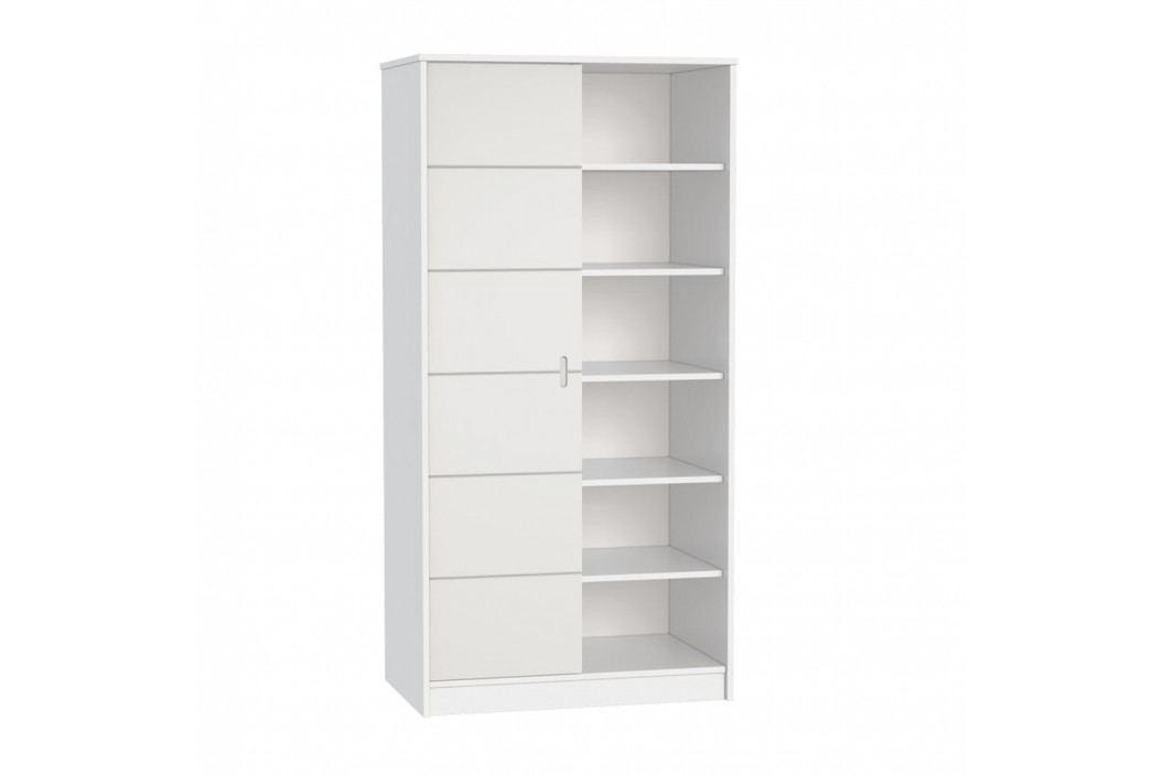 Bílá skříň dvoudílná FAKTUM Alda