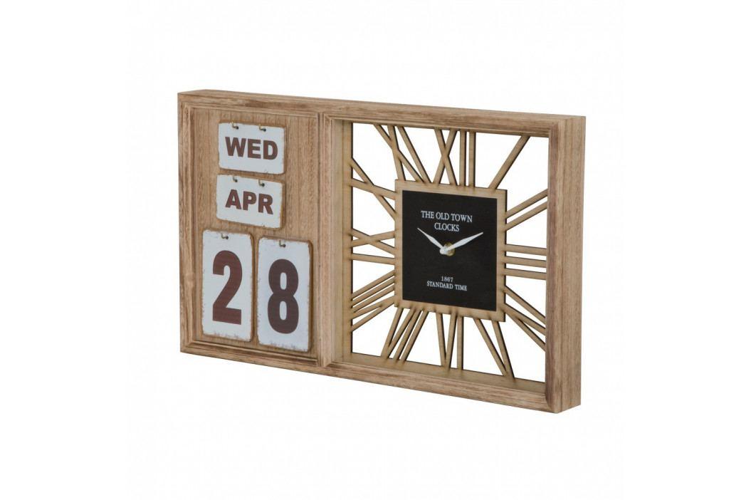 Stolní hodiny s kalendářem Mauro Ferretti Travel Day,50x30cm