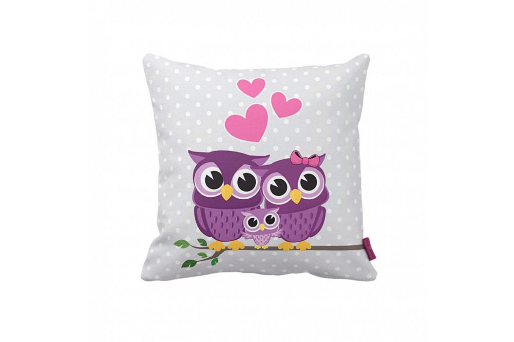 Polštář Owl Family, 43x43 cm