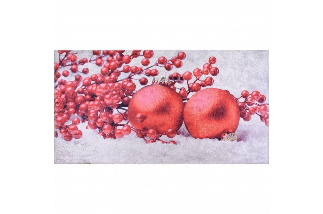 Červeno-bílý koberec Vitaus Berries, 120 x 160 cm