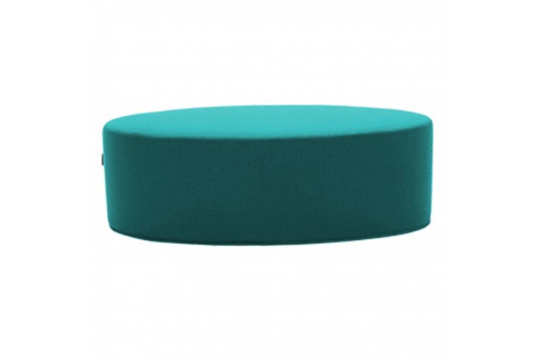 Tyrkysový puf Softline Bon-Bon Eco Cotton Turquoise, délka 60 cm