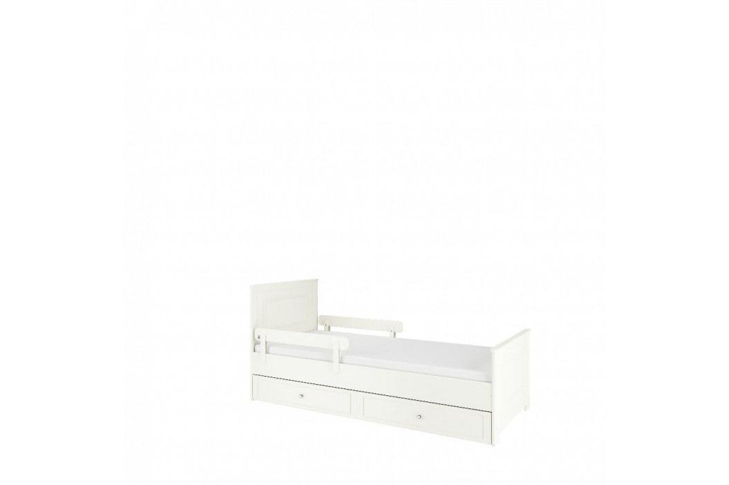 Bílá zábrana do dětské postele BELLAMY Unibar