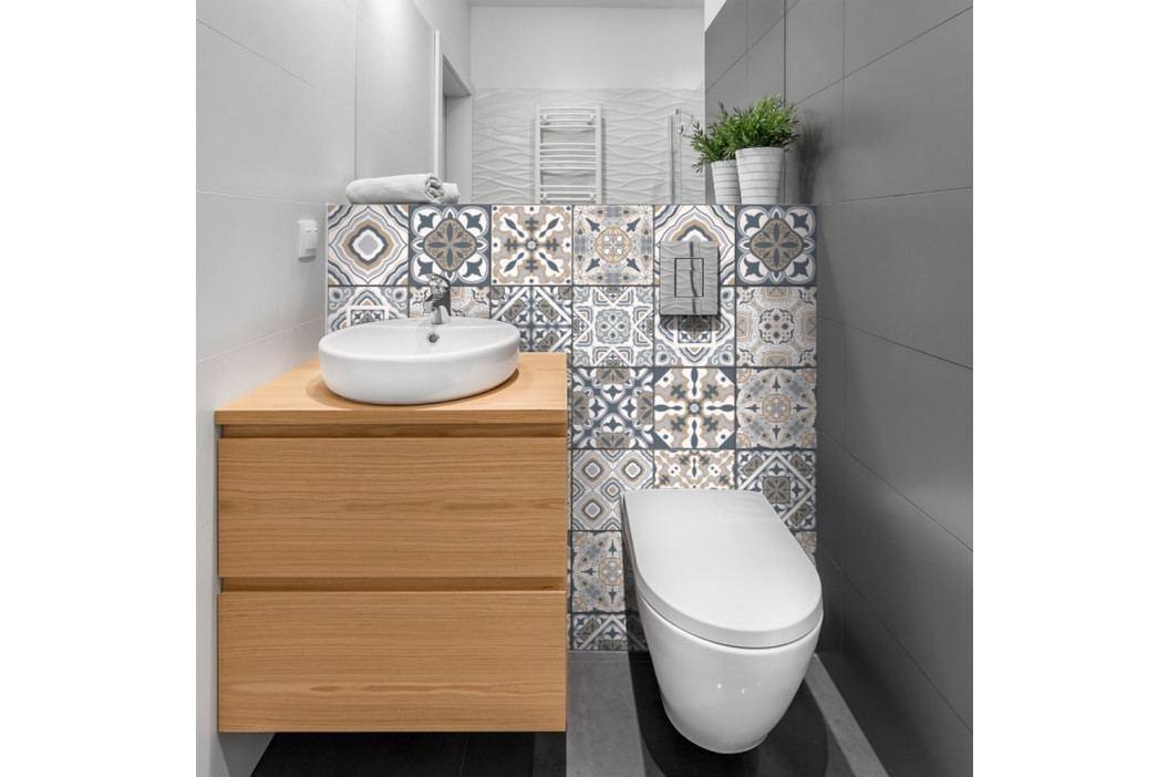Sada 24 nástěnných samolepek Ambiance Decal Tiles Azulejos Giacomo, 10 x 10 cm obrázek inspirace