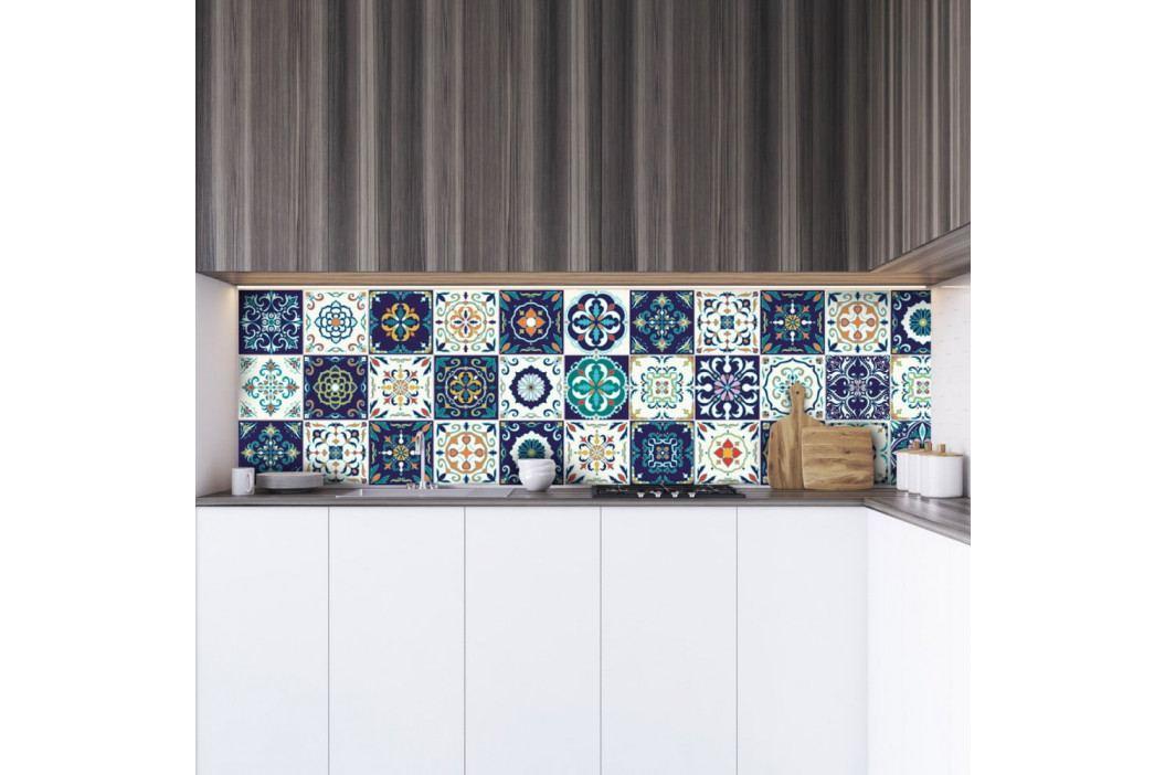 Sada 30 dekorativních samolepek na stěnu Ambiance Forli, 15 x 15 cm