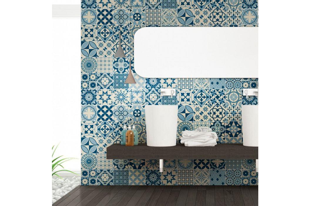 Sada 60 nástěnných samolepek Ambiance Wall Decal Cement Tiles Riana, 15 x 15 cm
