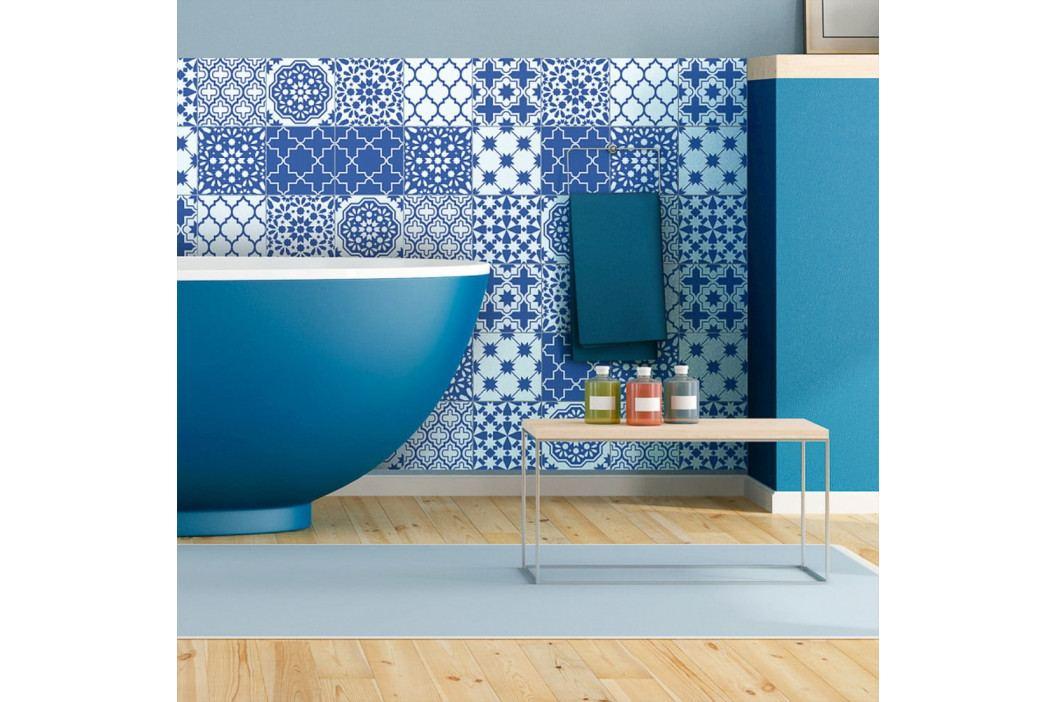 Sada 9 nástěnných samolepek Ambiance Wall Decals Blue Santorini Tiles, 20 x 20 cm obrázek inspirace