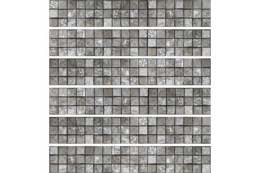 Sada 6 nástěnných samolepek Ambiance Stickers Friezes Tiles Stone, 5 x 30 cm obrázek inspirace
