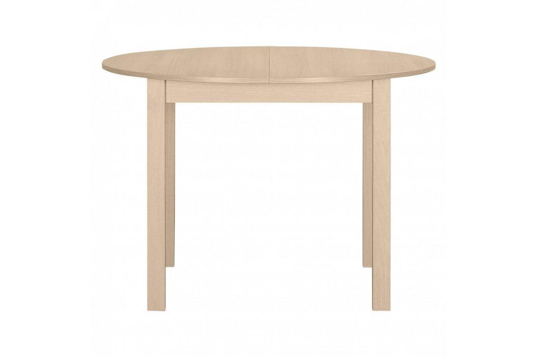 Kulatý dřevěný rozkládací jídelní stůl Artemob Haily obrázek inspirace