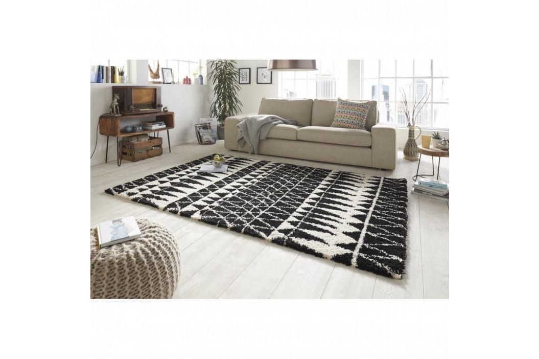 Černobílý koberec Mint Rugs Allure Black, 200x290cm