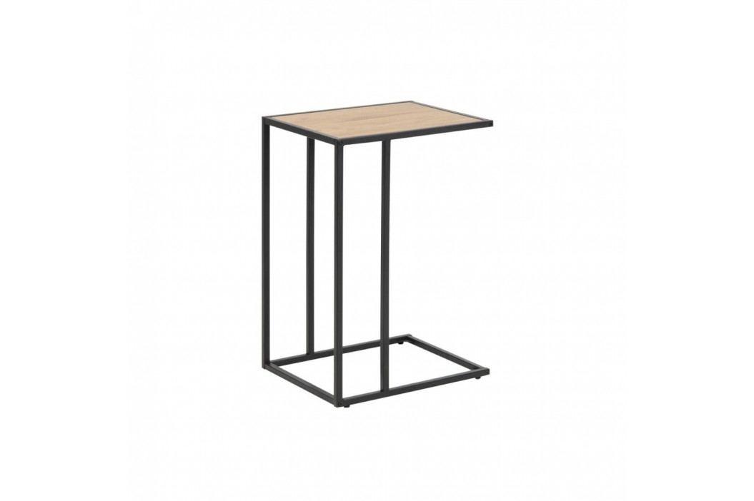 Černo-hnědý stůl na laptop Actona Seaford