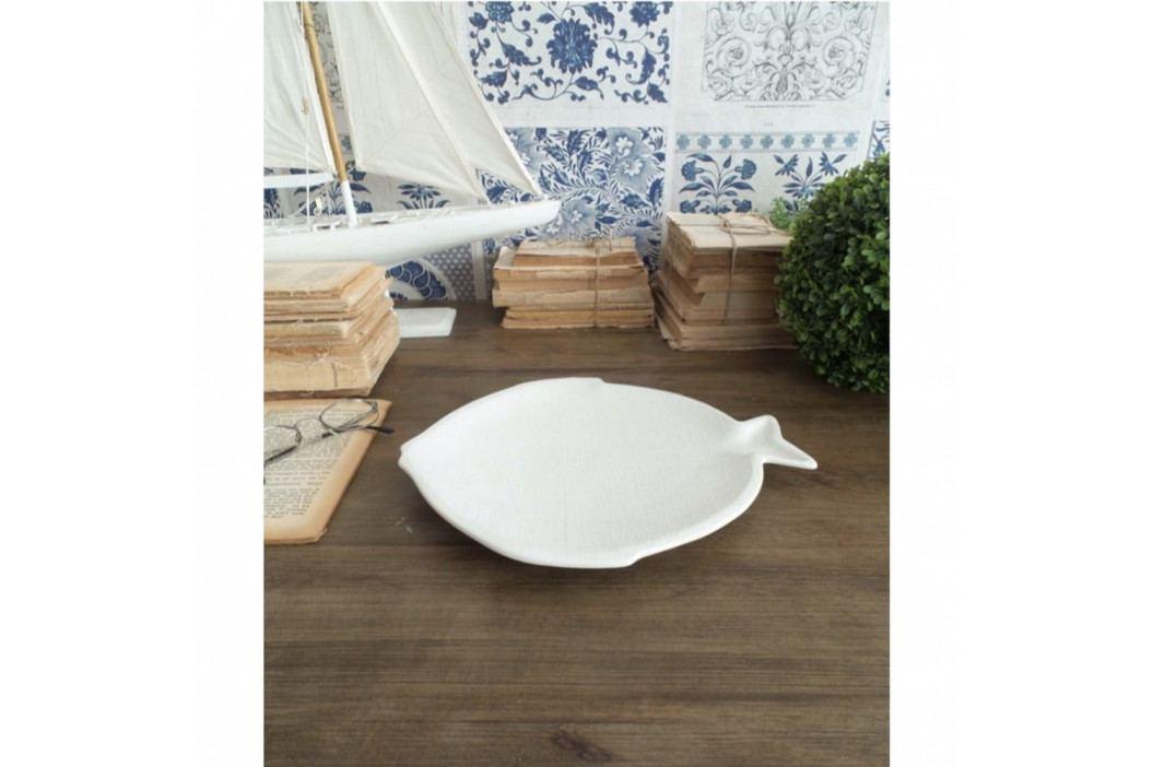 Sada 6 bílých keramických talířů Orchidea Milano Big Fish obrázek inspirace