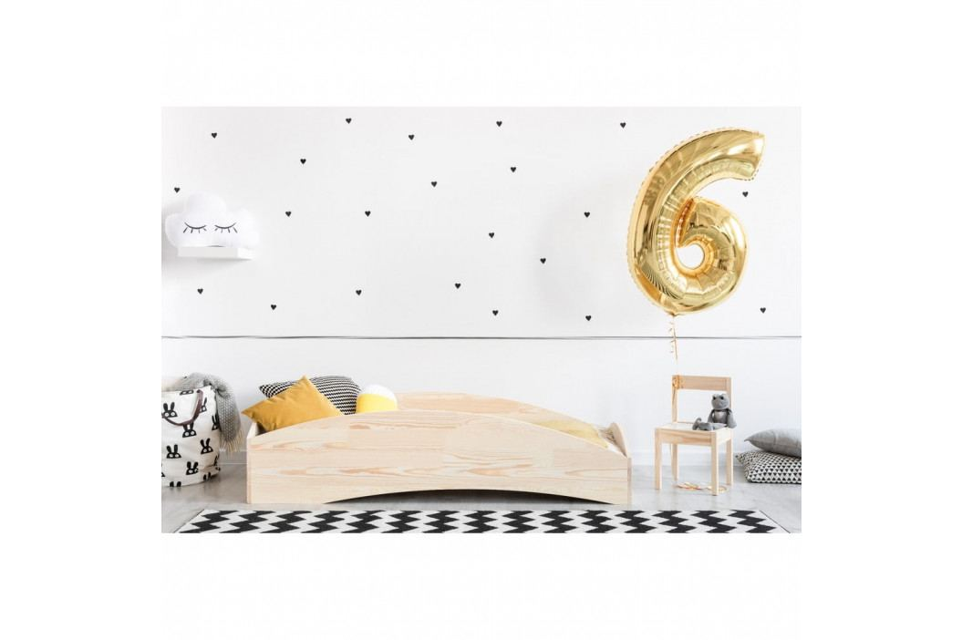 Dětská postel z borovicového dřeva Adeko BOX 6, 90x140 cm obrázek inspirace