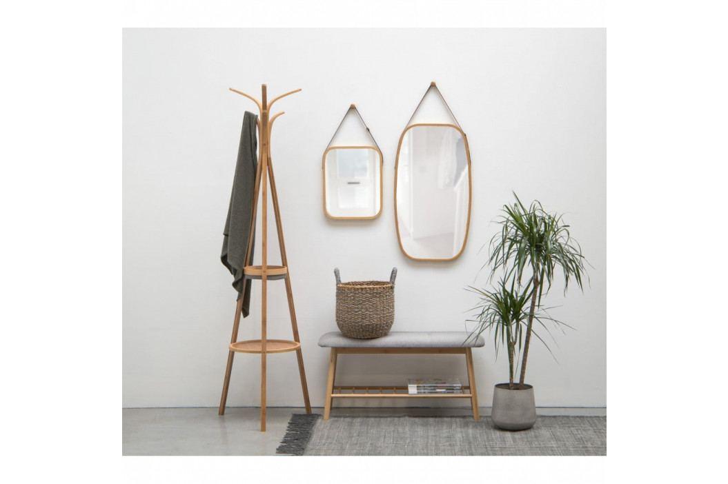 Nástěnné zrcadlo v bambusovém rámu PT LIVING Idylic, délka40,5cm