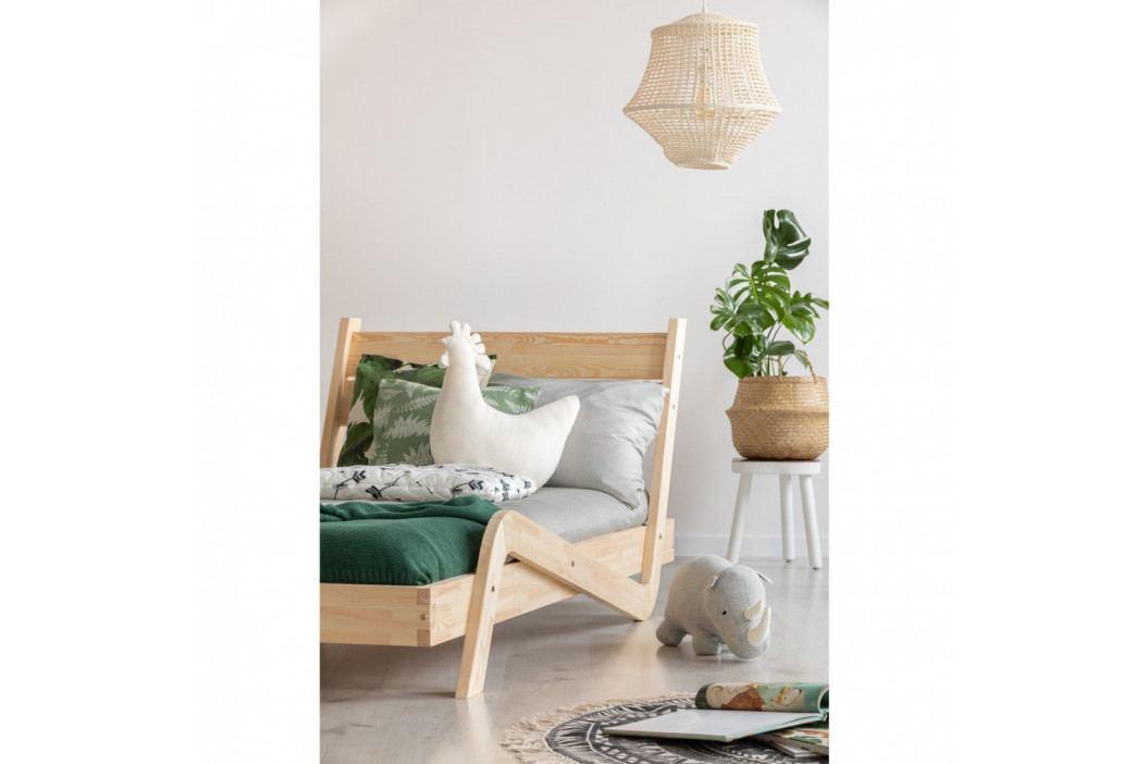 Dětská postel z borovicového dřeva Adeko Zigzag, 80 x170 cm