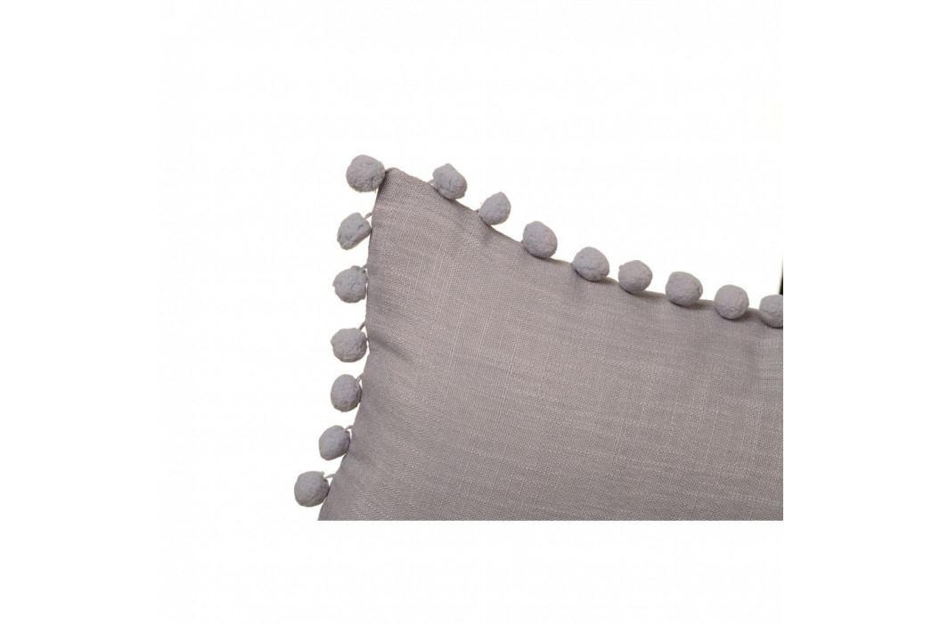 Šedý polštář Unimasa Pompon, 50 x 30 cm