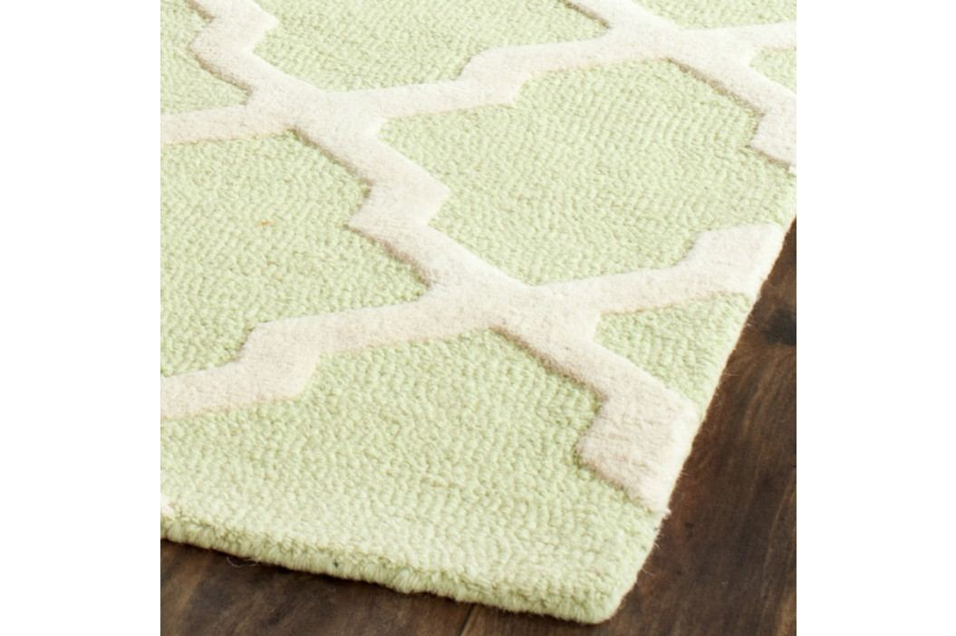 Vlněný koberec Safavieh Ava Light Green, 152 x 91 cm