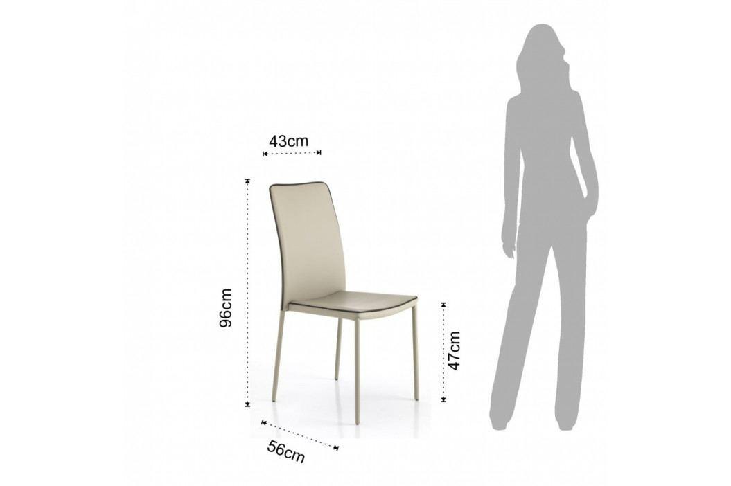 Sada 4 béžových jídelních židlí Tomasucci Kable