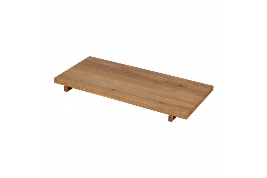 Sada 2 přídavných desek k jídelnímu stolu z masivního dubového dřeva Artemob Finger