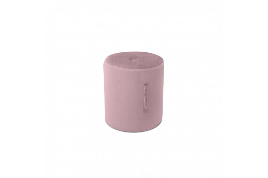 Růžový puf Mazzini Sofas Fiore, ⌀ 40 cm