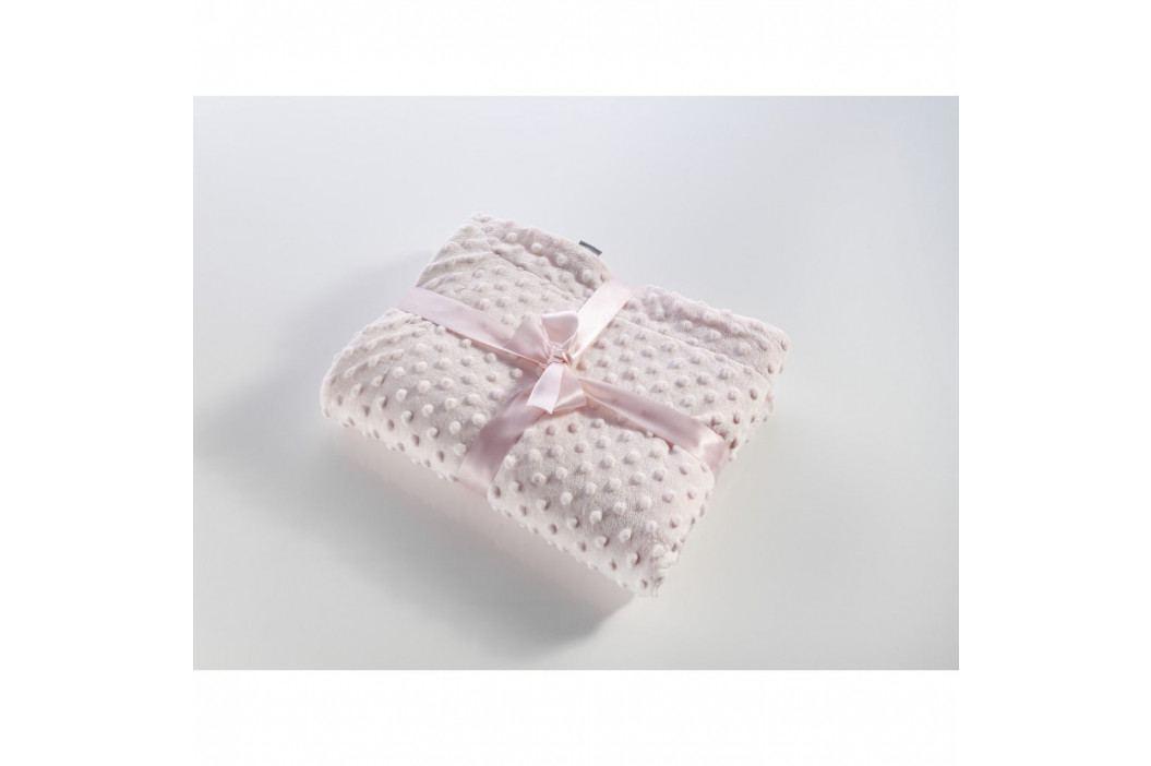 Růžová dětská deka Tanuki Little Dots, 110 x 140cm