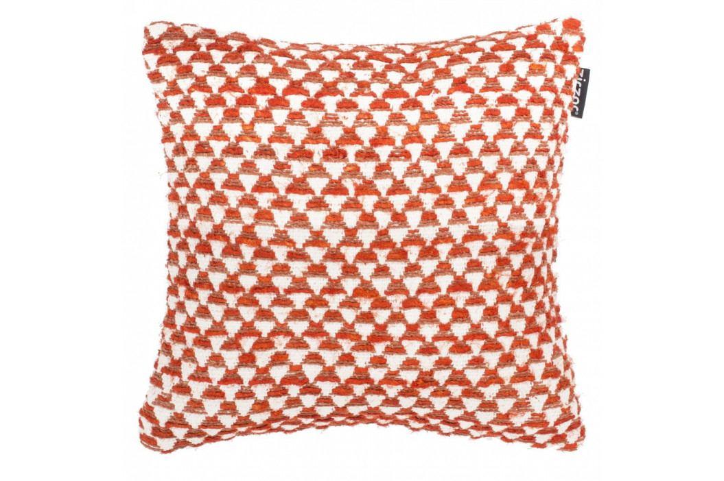 Oranžový vzorovaný povlak na polštář Tiseco Home Studio Pyramide, 45x45cm