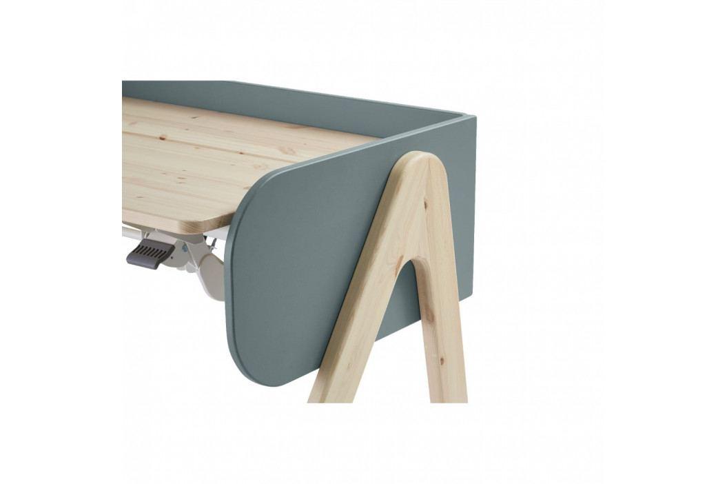 Modro-hnědý psací stůl z borovicového dřeva s nastavitelnou výškou Flexa Woody