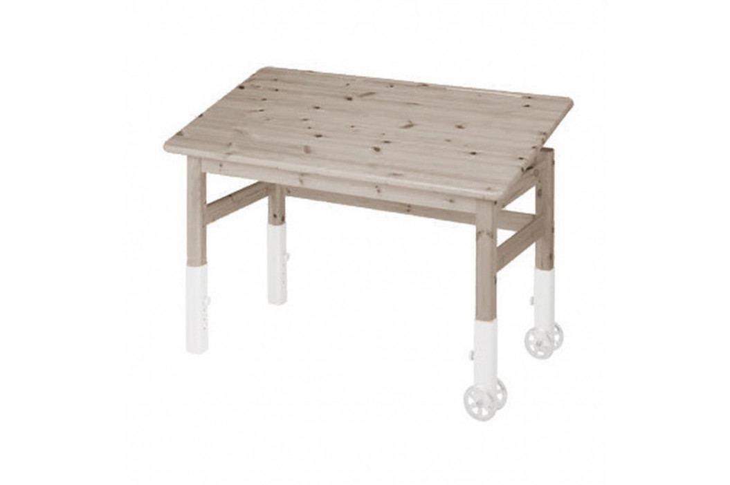 Hnědý psací stůl s náklopnou deskou Flexa Elegant