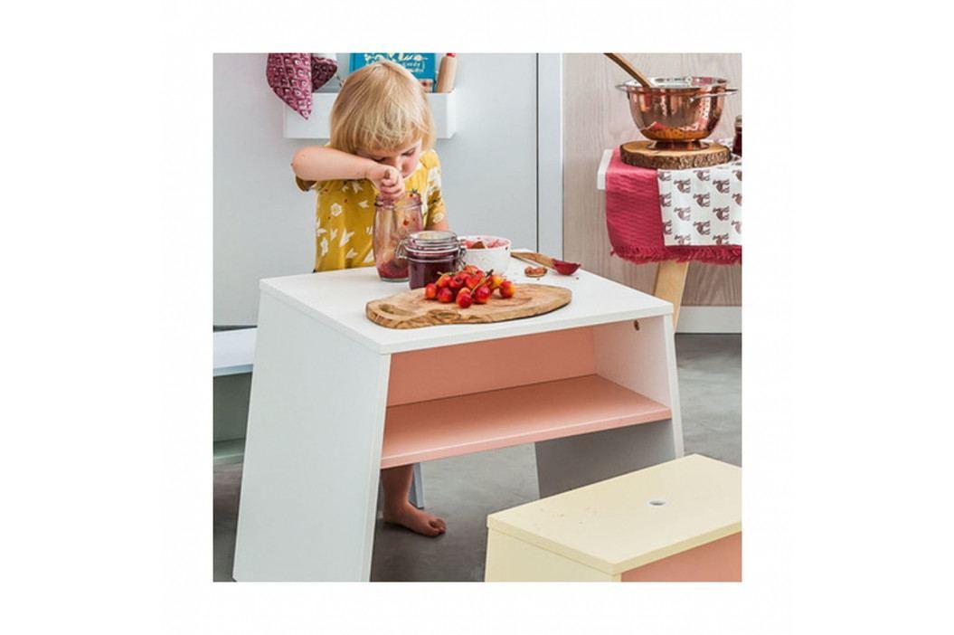 Bílorůžový dětský stolek Vox Tuli