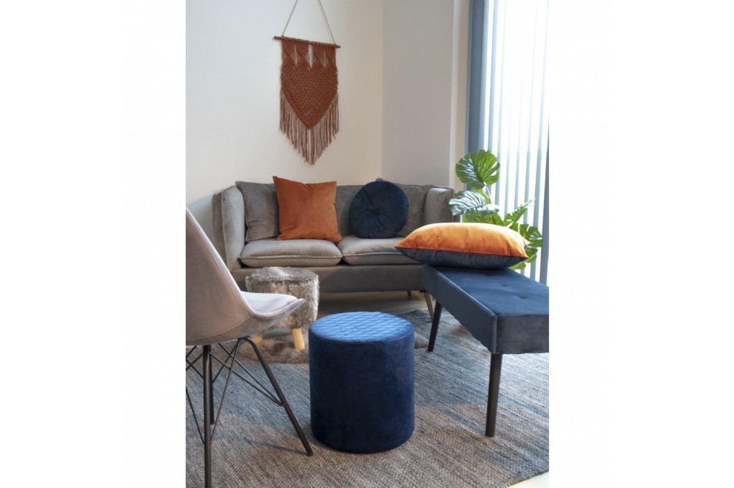 Modro-oranžový polštář se sametovým potahem House Nordic Braga, 40x60cm