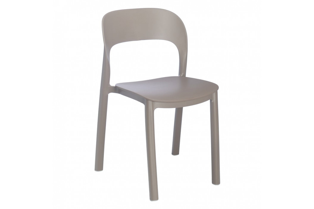 Sada 4 hnědých zahradních židlí Resol Ona