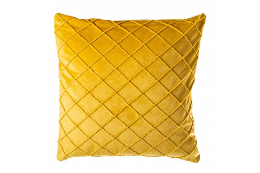 Žlutý polštář JAHU Alfa, 45 x 45 cm