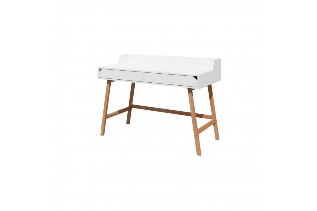 Bílý psací stůl Lotta BELLAMY, šířka 132 cm