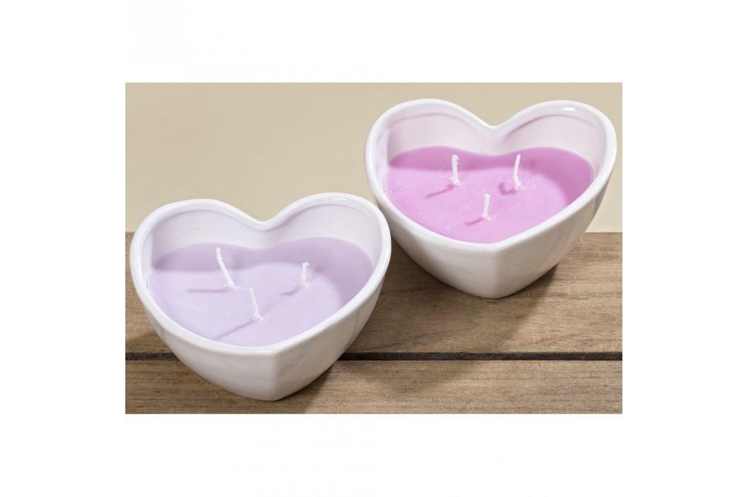 Sada 2 svíček Boltze Heart Pot