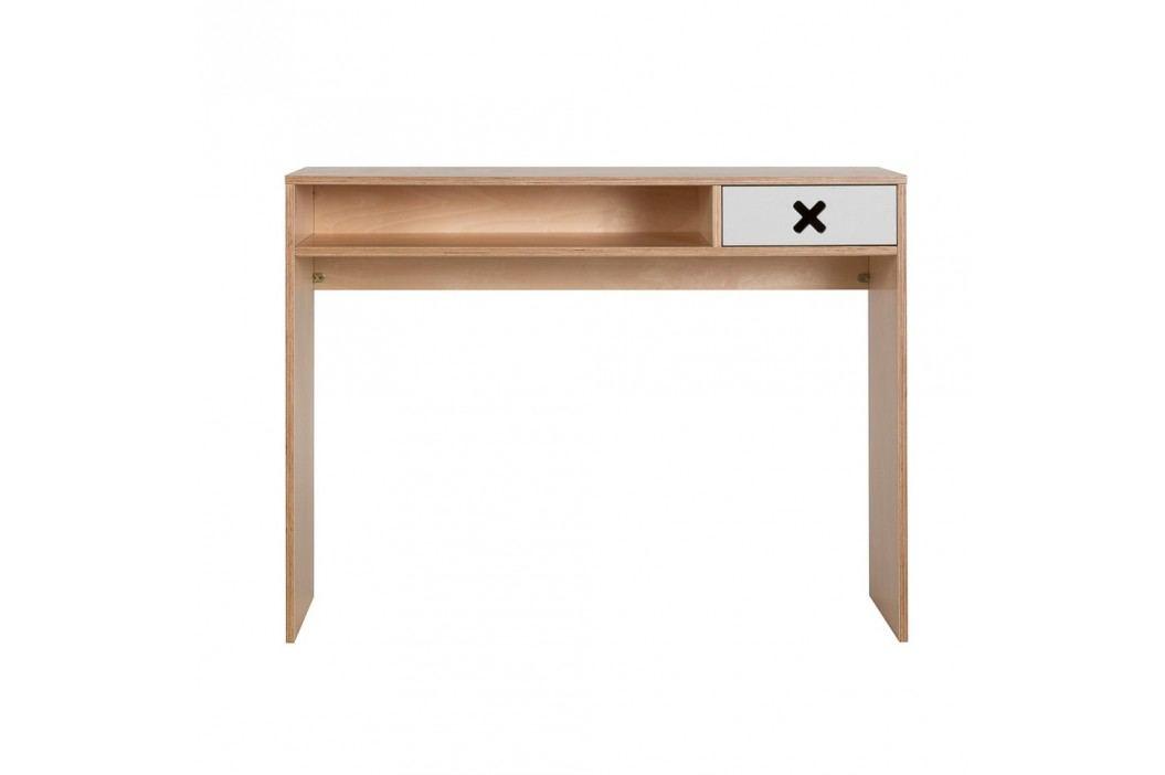 Šedý pracovní stůl s jednou zásuvkou Durbas Style