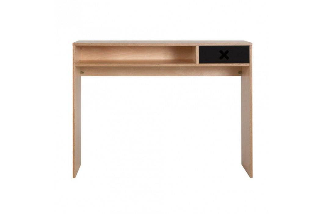 Černý pracovní stůl s jednou zásuvkou Durbas Style
