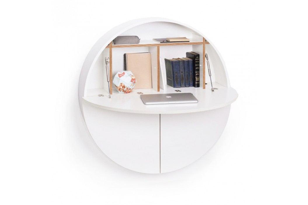 Bílý multifunkční nástěnný stůl EMKO Pill