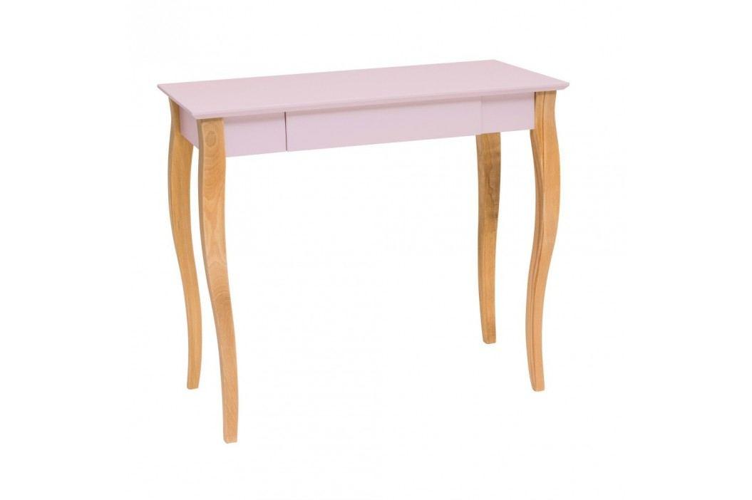 Růžový psací stůl Ragaba Lillo,délka85 cm