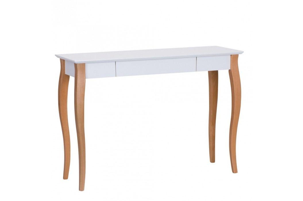 Bílý psací stůl Ragaba Lillo,délka105 cm