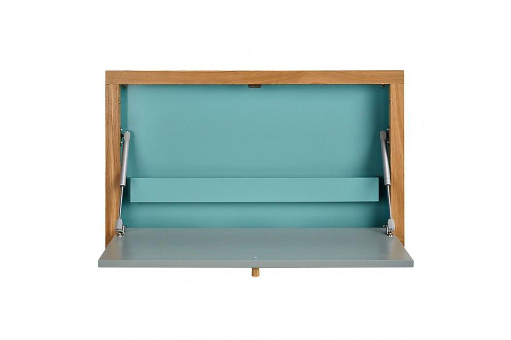 Modrý vyklápěcí stůl Woodman Banti