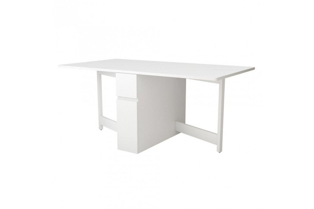 Bílý skládací multifunkční stůl Woodman Kungla