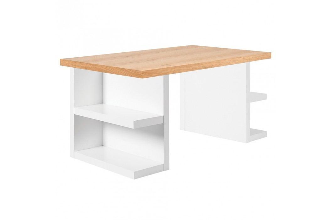 Světle hnědý pracovní stůl TemaHome Multi, 160 cm