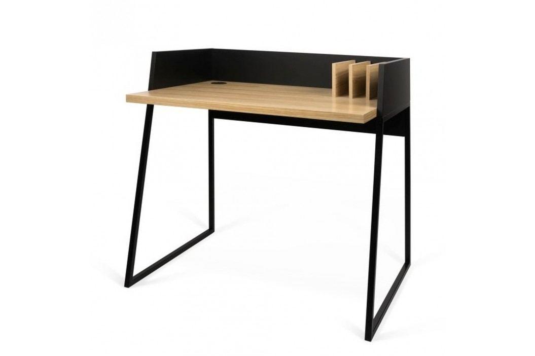 Černý pracovní stůl TemaHome Volga Oak