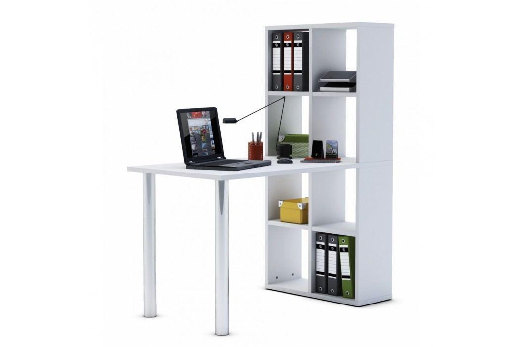 Bílý pracovní stůl s úložným systémem Smart