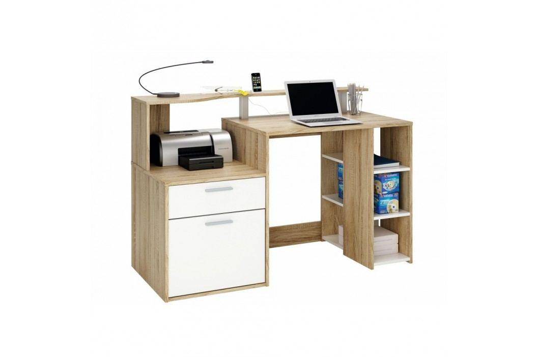 Pracovní stůl v dekoru dubového dřeva Oracle