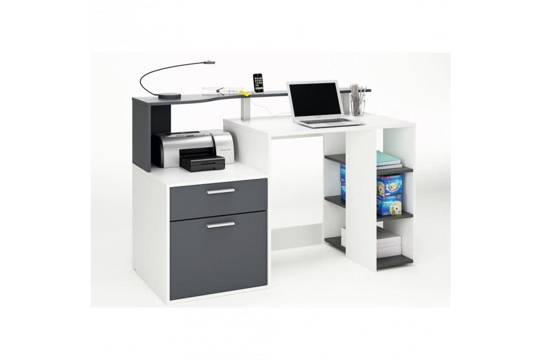Bílošedý pracovní stůl Oracle