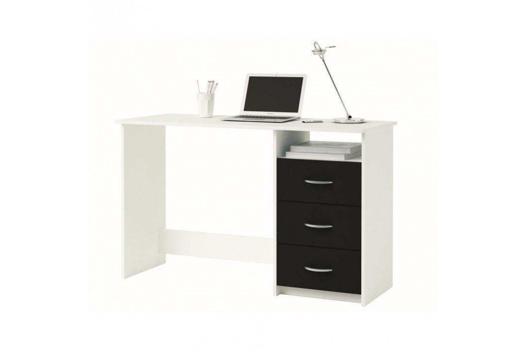 Bílý pracovní stůl se 3 zásuvkamiAristote