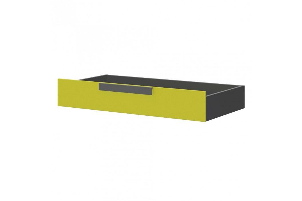 Šedozelený úložný box pod postel Szynaka Meble Wow