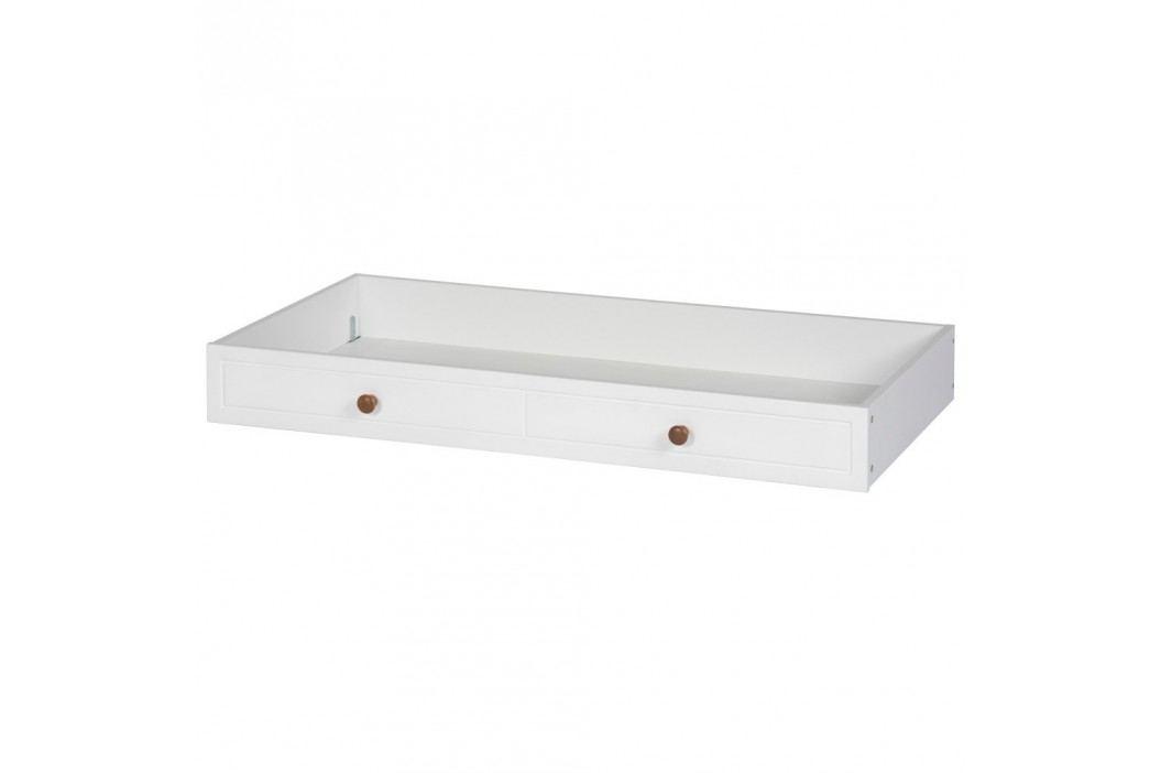 Bílý úložný box pod postel Szynaka Meble Princessa
